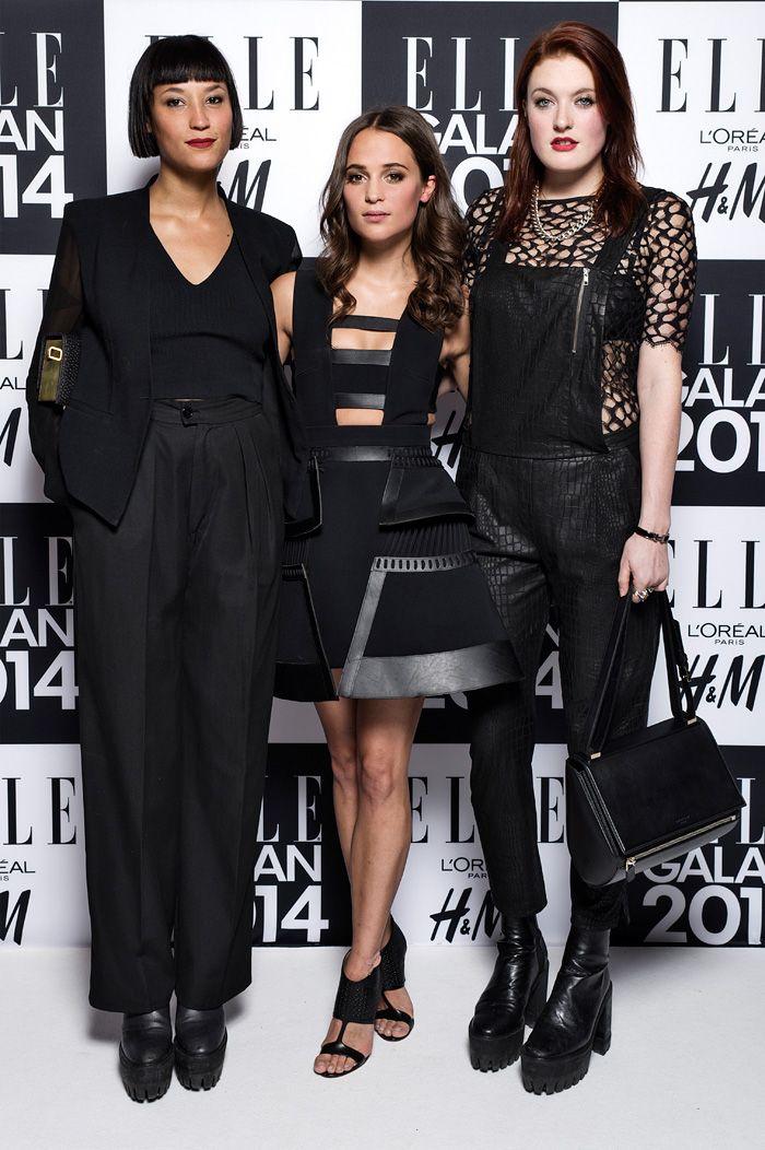 ELLE-galan 2014. Aino Jawo, Alicia Vikander och Caroline Hjelt.