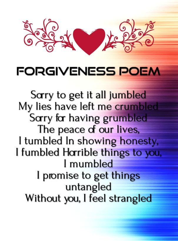 romantic sorry poems