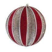80mm Red Velvet ball w/ Silver glitter   Code: BADE008RESIGLVEL