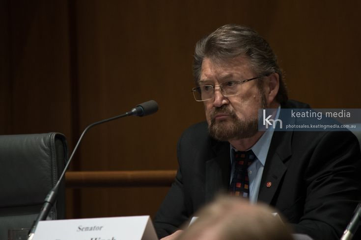 Senator Derryn Hinch during the Senatr Legal and Constitutional Affairs Legislation Committee