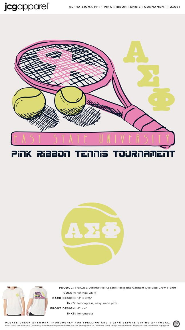 Alpha Sigma Phi Tennis Tournament Shirt Tennis Racket Ball Custom Design Shirts Sorority And Fraternity Alpha Sigma Phi