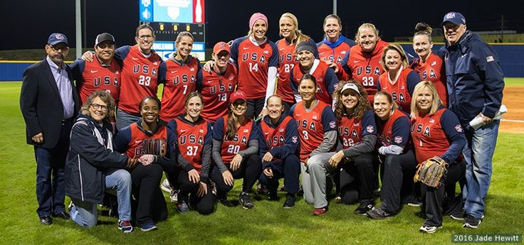 December 14 2016 - Legendary U.S. Olympic softball players reunite in New Orleans to celebrate the sport's return to the Olympic Games in 2020