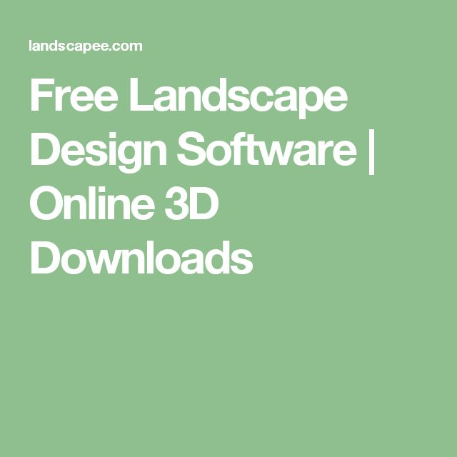 Free Landscape Design Software | Online 3D Downloads