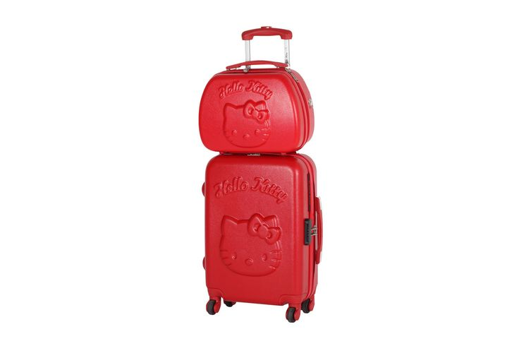 Vendita Lulu Castagnette / 19302 / Hello Kitty / Set di valigie e beauty case / Set Valigia Week-End e Beauty Case - Rosso