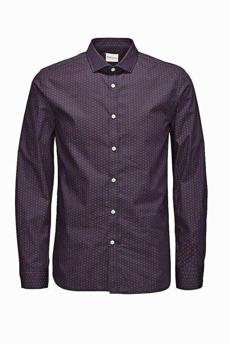 PREMIUM by JACK & JONES - Langärmeliges Hemd von PREMIUM - Slim fit - Cut-Away-Kragen - Popelin-Qualität 100% Baumwolle...