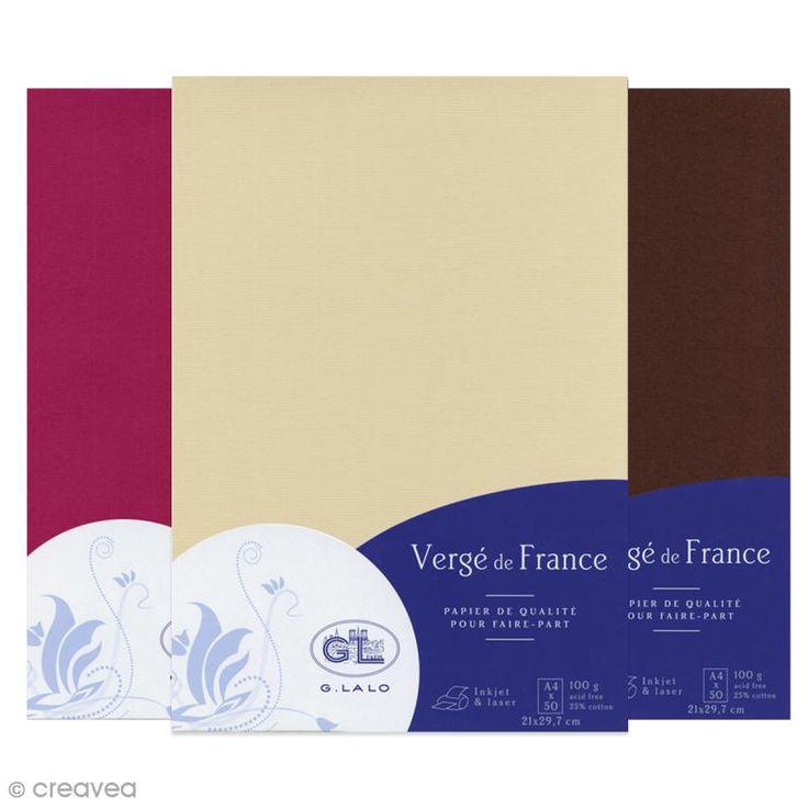 Compra nuestros productos a precios mini Papel Vergé de Francia A4 - 50 Hojas - Entrega rápida, gratuita a partir de 89 € !