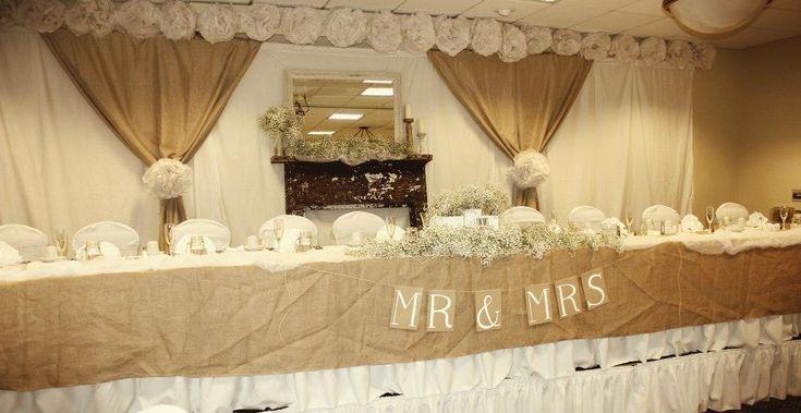 Rustic Vintage WeddingHead Table