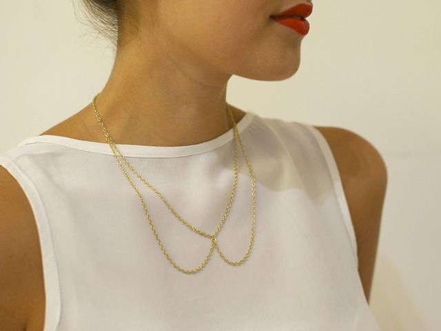 make it: chain bow necklace