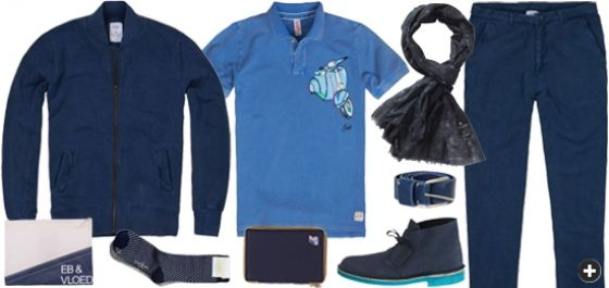 Blue outfit for men | www.eb-vloed.nl