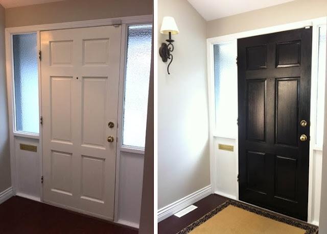 doors paint doors black dark gray paint black interiors interior doors. Black Bedroom Furniture Sets. Home Design Ideas