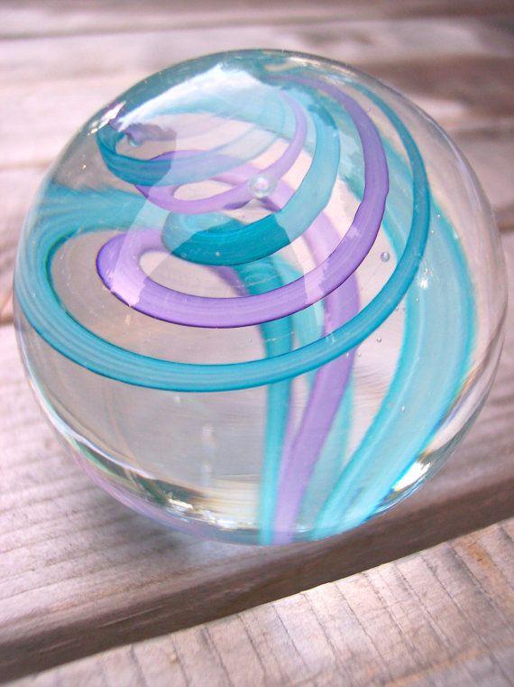 Hand Blown Art Glass Paperweight by Bill Riker by rikerartglass, $22.00