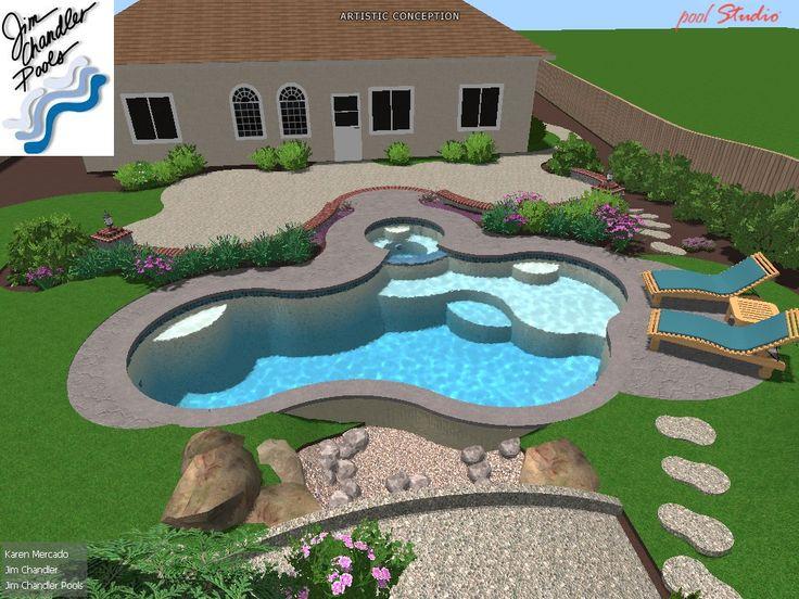 21 best dream 3 d pool designs images on pinterest pool for Pool design roseville ca