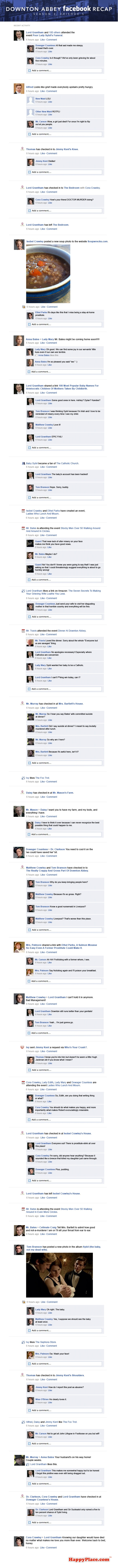 These are beyond brilliant.  Downton Abbey Facebook Recaps