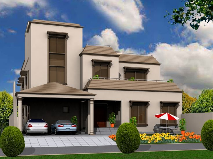 49 best images about house designs on pinterest house for Front view of beautiful houses in pakistan