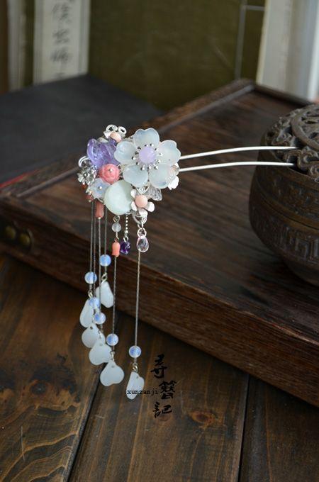 Original handmade tassels Chaitou classical hairpin hair ornaments Han Chinese clothing cheongsam costume accessories, the new version free ...: