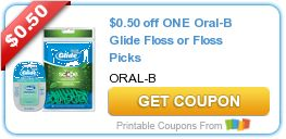 $0.50 off ONE Oral-B Glide Floss or Floss Picks ENDING TOMORROW, DON'T MISS OUT!