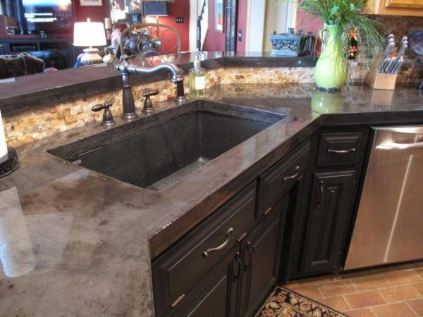Concrete countertop DIY tutorial. Love the color