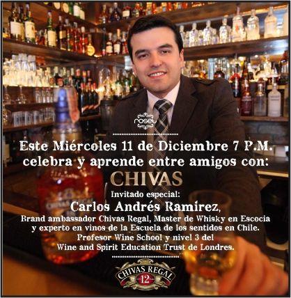Hoy acompáñanos en Roset con Carlos Andrés Ramirez ambassador CHIVAS REGAL!!. Aprende y celebra!!