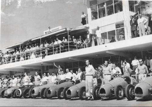 GORDINI-MASERATI-ALFA-ROMEO-PITS-ARGENTINE-BUENOS-AIRES-GP-1953-PHOTOGRAPH-FOTO