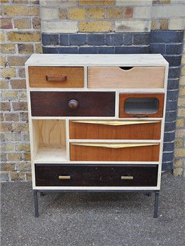 Elemental antique vintage retro furniture lighting seating : antique : Upcycled Square Corner Cabinet 3 ($200-500) - Svpply