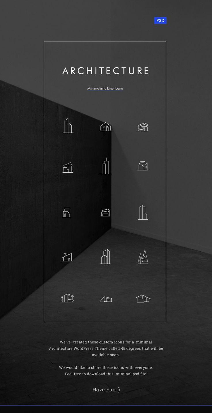 Minimal Architecture Line Icon Pack