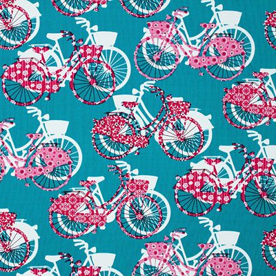 Cotton Bike Be Happy 2 - Cotton - turquoise blue