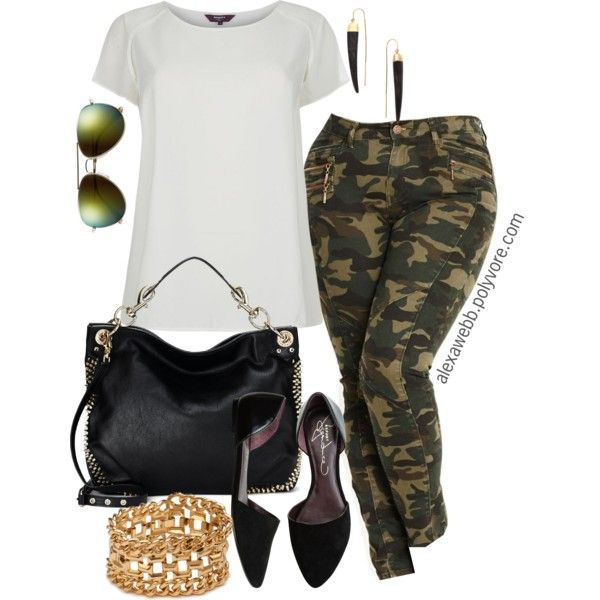 Camo Skinnies - Plus Size, created by alexawebb on Polyvore-I have the pants