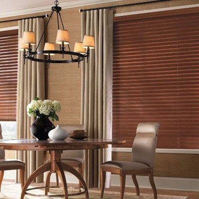 This Levolor Wood Blind brings warmth, beauty and elegance into your home.  Color: Chestnut