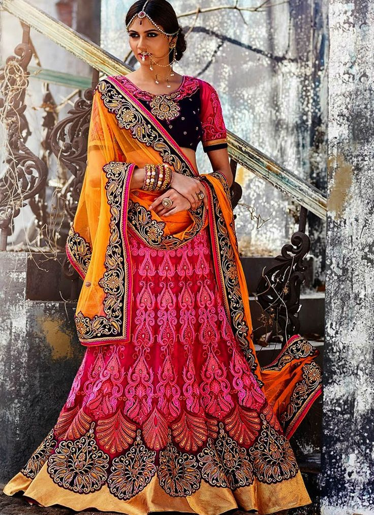 Heavy Pink Lehenga Choli With Zari Work