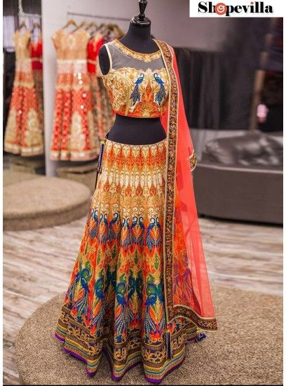 Elegant Multi Colour Designer Premium Party, Wedding Lehenga Choli- 1102
