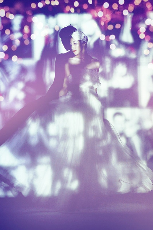 dancing bride.