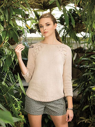 Seamless Leaves Knit Pattern from Annie's Craft Store. Order here: https://www.anniescatalog.com/detail.html?prod_id=143194&cat_id=469