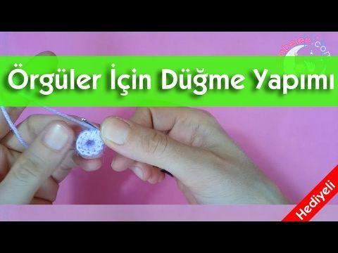 Örgüler İçin Süsleme Düğmesi Yapımı (Hem süs hem işlevli) - YouTube