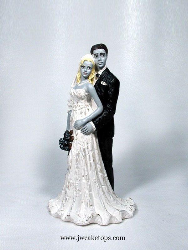 8 best Halloween Wedding Cake Toppers images on Pinterest   Wedding ...