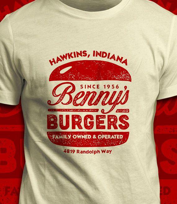 Benny's Burgers - Stranger Things T-Shirt - Men's / Unisex & Women's Fit