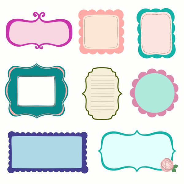 free vector scrapbook frames labels journal tags starsunflower studio