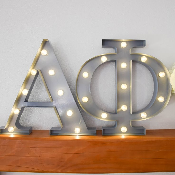 Alpha Phi sorority marquee letter lights - the perfect decoration for every house, dorm or recruitment room! www.alistgreek.com
