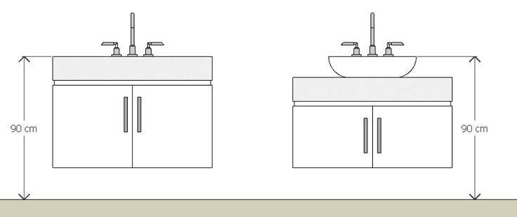 altura bancada banheiro - Pesquisa Google