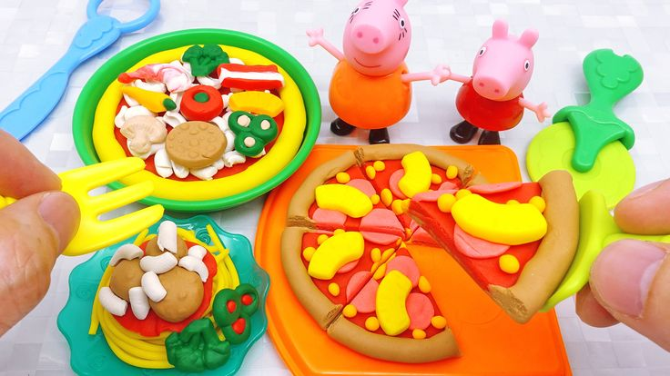 Peppa Pig Play Doh Pizza Party Playset making Pizza and Pasta #PlayDoh #PeppaPig #Pizza #Pasta