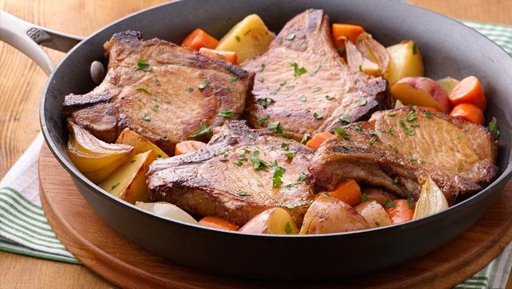Pork Chop Skillet Dinner Recipe Skillets Vegetables