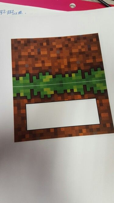 Simple minecraft birthday food tents, invert image in Word then add solid white rectangle with outline