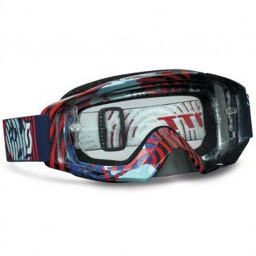 Scott Tyrant Motocross Goggles Vinyl Blue / Red Clear Works MX Goggle Lens