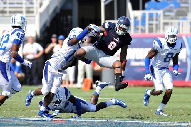 Middle Tennessee vs. Florida Atlantic - 11/22/14 College Football Pick, Odds, and Prediction
