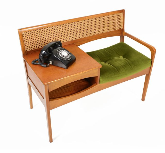 Mid-Century Modern Freak | Teak Telephone Bench by Chippy Telephone Seats...