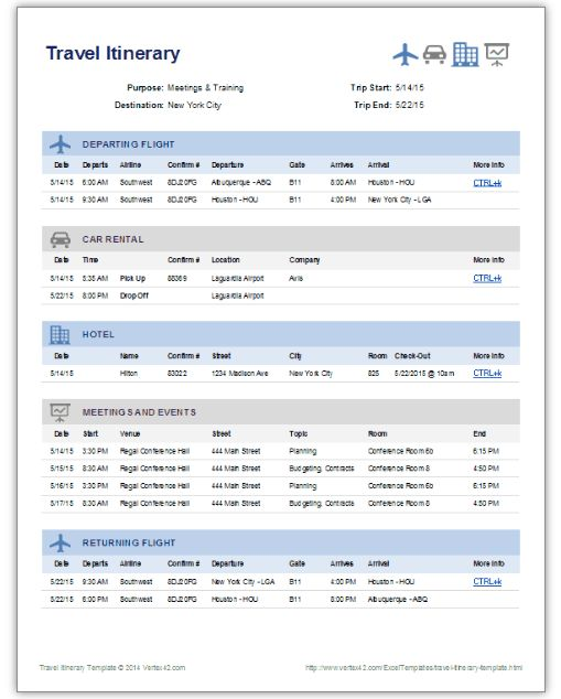 Travel Itinerary Template How To Plan A Travel Itinerary The