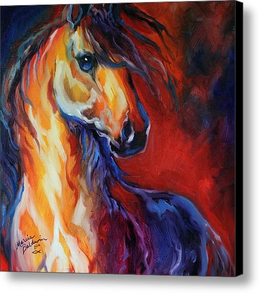 Stallion Red Dawn Canvas Print / Canvas Art By Marcia Baldwin