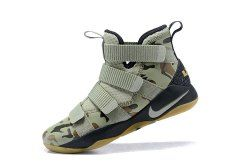 size 40 bdaa7 37bb8 Nike LeBron Soldier 11 Men's Basketball Shoes Army Green in ...