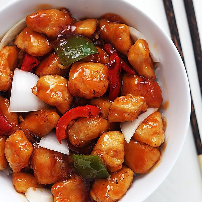 Easy, guilt-free healthy sweet and sour chicken with tons of flavor!