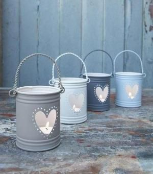 How to Make a Candle Holder out of a Tin Can #diy #crafts                                                                                                                                                                                 More