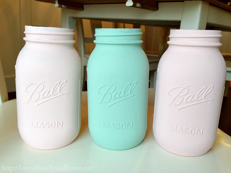 How To Paint Mason Jars - Love of Family & Home
